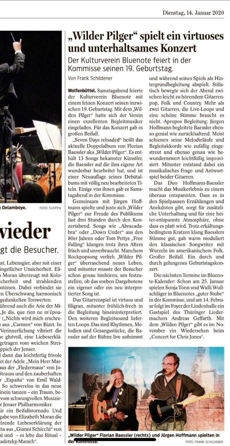 Wolfenbütteler Zeitung vom 14.01.2020